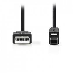 NEDIS CCGP60100BK05 USB 2.0 Cable A Male-B Male,0.5 m Black