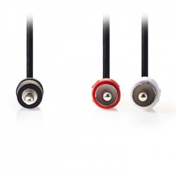 NEDIS CAGP22200BK100 Stereo Audio Cable 3.5 mm Male-2xRCA Male 10m Black