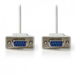 NEDIS CCGP52050IV20 Serial Cable D-Sub 9-pin Female-D-Sub 9-pin Female 2.0 m, Iv