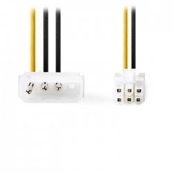 NEDIS CCGP74060VA015 Internal Power Cable Molex Male-PCI Express Male 0.15m Vari