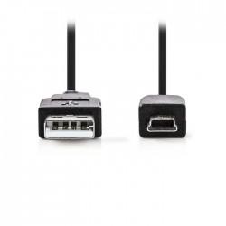 NEDIS CCGP60300BK20 USB 2.0 Cable A Male - Mini 5-pin Male, 2.0 m Black