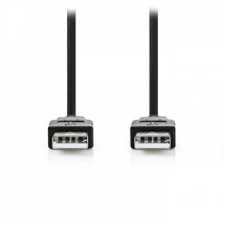 NEDIS CCGP60000BK10 USB 2.0 Cable A Male-A Male,1.0 m Black