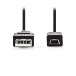 NEDIS CCGP60300BK30 USB 2.0 Cable A Male-Mini 5-pin Male 3.0m Black