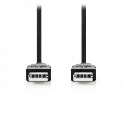NEDIS CCGP60000BK20 USB 2.0 Cable  A Male-A Male 2.0m Black