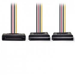 NEDIS CCGP73190VA015 Internal Power Cable SATA 15-pin Male-2x SATA 15-pin Female