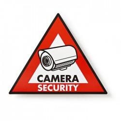 NEDIS STCKWC105 Warning Sticker Camera Security symbol Set of 5 pieces