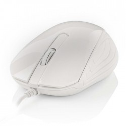 NEDIS MSWD300WT Wired Desktop Mouse 1000 dpi 3-Button White