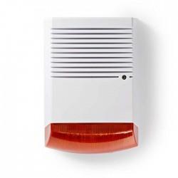 NEDIS DUMSS20WT Dummy Security Siren IP44 | White/Orange