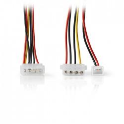 NEDIS CCGP74030VA015 Internal Power Cable Molex Male-Molex Female+3-pin Fan Powe