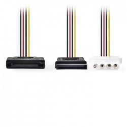 NEDIS CCGP73555VA015 Internal Power Cable SATA 15-pin Male-SATA 15-pin Female+Mo