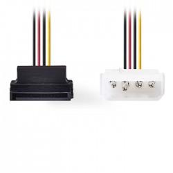 NEDIS CCGP73505VA015 Internal Power CableMolex Male-SATA 7-pin Female 90° Angled