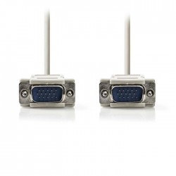 NEDIS CCGP59001IV20 VGA Cable VGA Male - VGA Male 2.0m Ivory