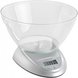 MELICONI 655100 BOWL SILVER ELECTR. KITCHEN SCALE