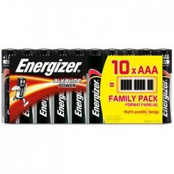 ENERGIZER AAA-LR03/10TEM ALKALINE POWER FAMILY PACK