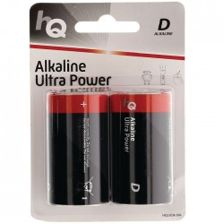 HQLR20/2ΤΕΜ Alkaline D battery 2-blister