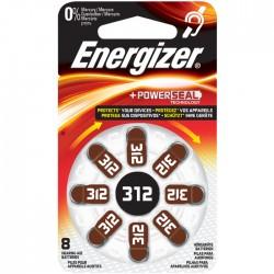 ENERGIZER ZINC AIR 312-8P/8ΤΕΜ HEARING AID BATTERY F016165