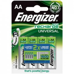 ENERGIZER AA-HR6/1300mAh/4TEM UNIVERSAL RECHARGEABLE