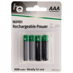 HQHR03-950/4TEM 950 mAh Rechargeable NiMH AAA battery