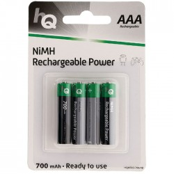 HQHR03-700/4ΤΕΜ 700 mAh Rechargeable NiMH AAA battery