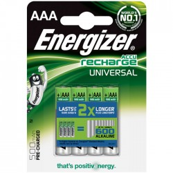 ENERGIZER AAA-HR03/500mAh/4TEM UNIVERSAL RECHARGEABLE