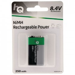 HQHF9-250/1B Rechargeable NiMH 9 V battery