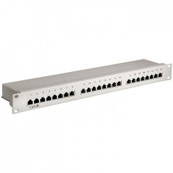 68883 CAT5E ETHERNET PATCH PANEL 24PORT STP GREY