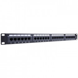 93865 CAT5E ETHERNET PATCH PANEL 24PORT UTP BLACK