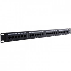 93866 CAT6 ETHERNET PATCH PANEL 24PORT UTP BLACK
