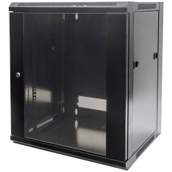 "INT 711869 ASSEMBLED 19"" 12U (635x570x450) WALLMOUNT CABINET BLACK"