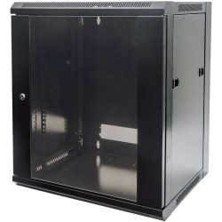 "INT 711883 ASSEMBLED 19"" 12U (635x570x600) WALLMOUNT CABINET BLACK"