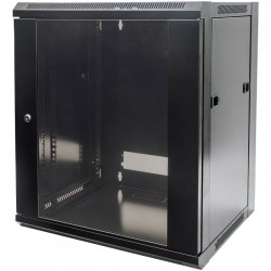 "INT 711937 ASSEMBLED 19"" 15U (770x570x450) WALLMOUNT CABINET BLACK"
