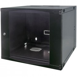 "INT 711777 ASSEMBLED 19"" 9U (500x570x450) WALLMOUNT CABINET BLACK"