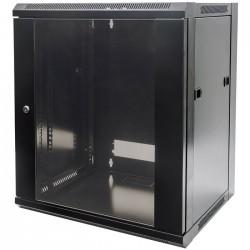 """INT 711715 FLATPACK 19"""" 6U (370x570x450) WALLMOUNT CABINET BLACK"""