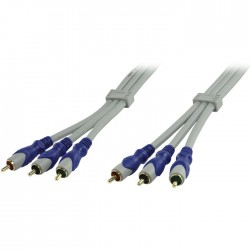 HQSV-320-15 3X RCA MALE COMPONENT VIDEO CABLE