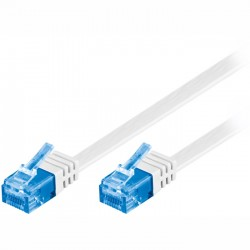 96303 CAT 6a U/UTP FLAT-PATCH CABLE 0.5m,WHITE