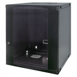 "INT 711791 ASSEMBLED 19"" 9U (500x570x600) WALLMOUNT CABINET BLACK"