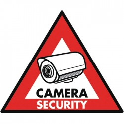 SAS-ST-CS  STICKER CAMERA SECURITY 123 x 148 mm