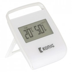 KN-DTH10 THERMOMETER/HYGROMETER INDOOR WHITE