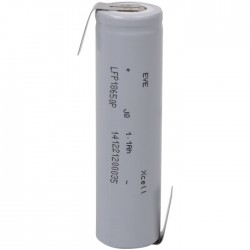 LFP 18650 P LUG LiFePO4-Battery with lugs 3.3 V 1100 mAh