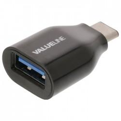 VLCP 60915B USB 3.0 C male- USB A female black adapter