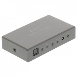 KN-ASW2504 4-port digital audio switch 4xfemale-1xfemale