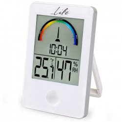 LIFE WES-101 Thermometer/hygrometer White with clock
