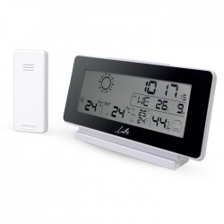 LIFE WES-200 Weather station with wireless outdoor sensor,clock& alarm function