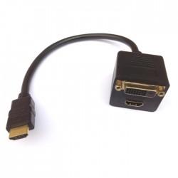 HDMI Splitter M to HDMI/DVI F Aculine AD-043