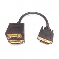 DVI Splitter M to VGA/DVI  F Aculine AD-041