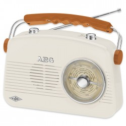 NR 4155 CREME RETRO RADIO FM/AM,AUX IN