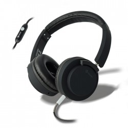 MELICONI 497450 MYSOUND SPEAK PRO BLACK ON-EAR STEREO HEADPHONE (WITH MICROPHONE