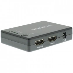 VLVSW 3404 HDMI Switch 4x HDMI Input - HDMI Output Black
