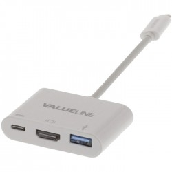 VLCP 64765W 0.20 USB 3.1 Adapter USB-C Male - USB A Female / USB-C Female / HDMI