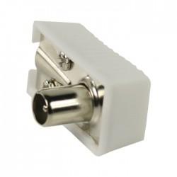 VLSP 40900W Angled coax connectors male white 2 pcs